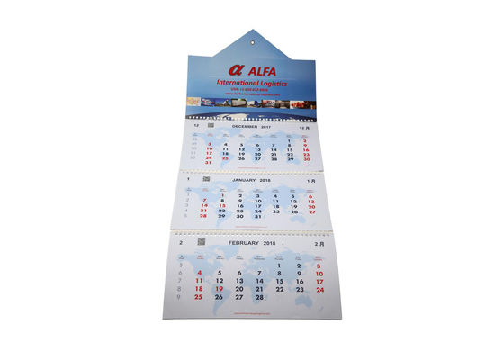 China El calendario de pared lleno reciclable del año, cortó el calendario de pared con tintas amistoso de ejecución de Eco fábrica
